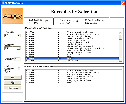 Barcodes ScreenShot 1